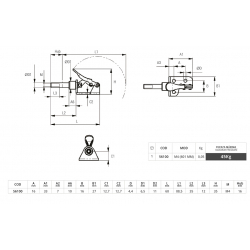 40K CLAMP  Bar:40x10 mm Depth:40 cm
