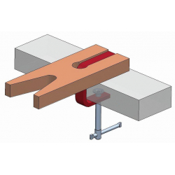 MAXIPIHER R CLAMP  Bar:40x10mm Depth:16cm